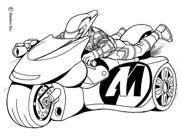 Coloriages coloriage de la super moto de action man - Coloriage de moto ...