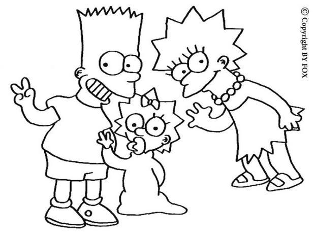 Coloriages coloriage de lisa et bart - Dessin de bart ...