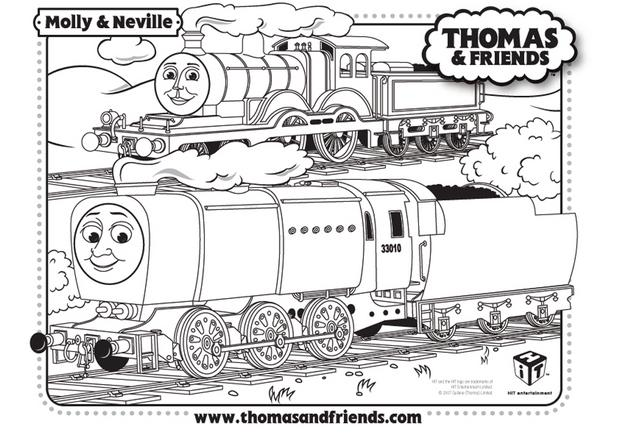 Coloriages coloriage de molly et neville - Thomas le petit train coloriage ...