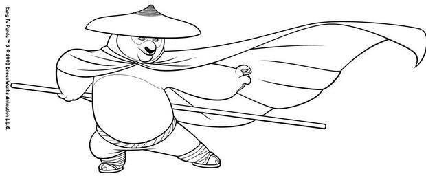 Coloriages po d guis - Coloriage kung fu panda ...