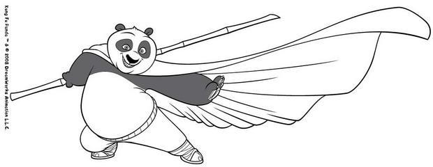 Coloriages po ma trise le b ton - Coloriage kung fu panda ...