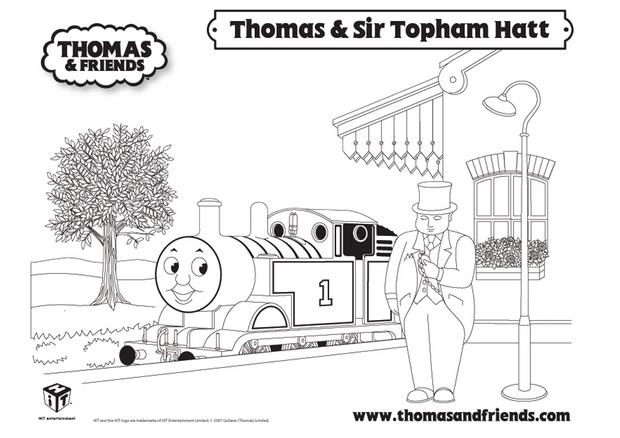 Coloriages coloriage de thomas et sir topham hatt fr - Thomas le petit train coloriage ...