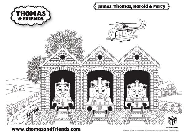 Coloriages coloriage de thomas james harold et percy - Thomas le petit train coloriage ...