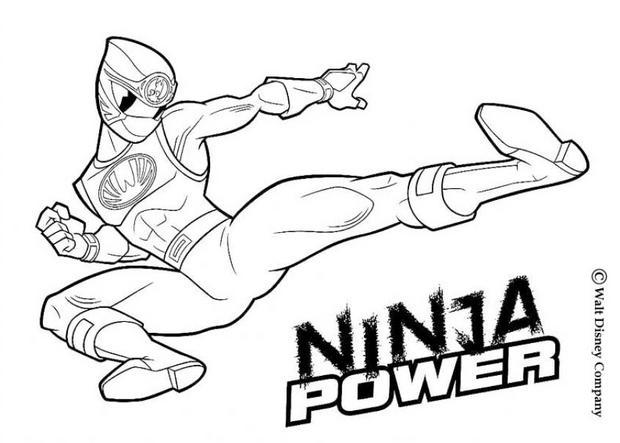 Coloriages ninja power rangers - Dessin power rangers ...