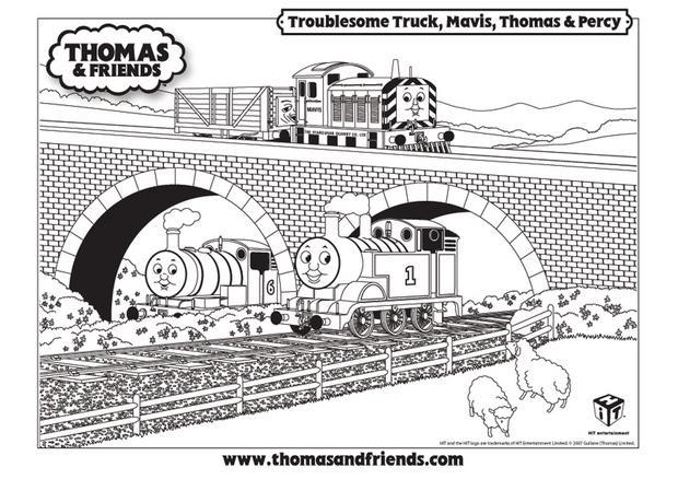 Coloriages coloriage du passage d 39 un pont - Coloriage thomas ...
