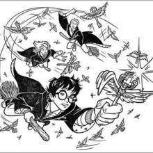 Coloriage Harry Potter : A la poursuite de la clé magique
