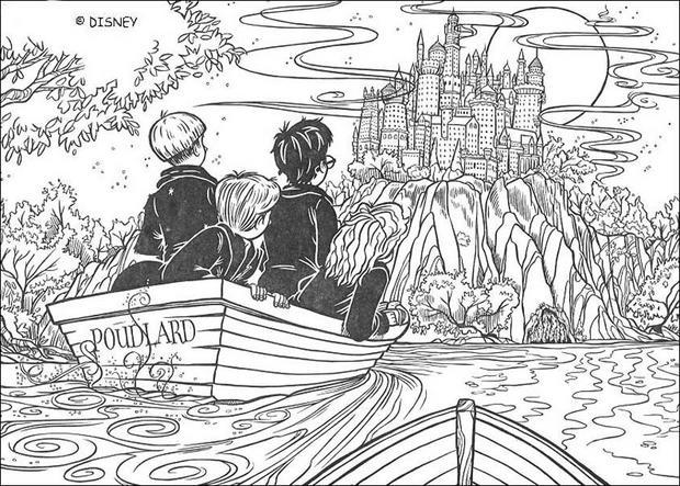 Coloriages l 39 cole de poudlard - Coloriage harry potter ...