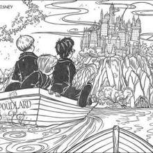 Coloriage Harry Potter : L'école de Poudlard