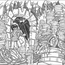 Coloriage Harry Potter : Le coffre secret de Gringotts