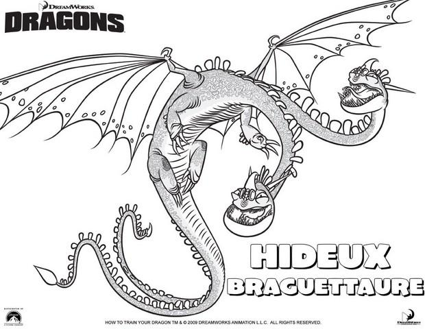 Coloriages le dragon hideux braguettaure - Coloriages de dragons ...