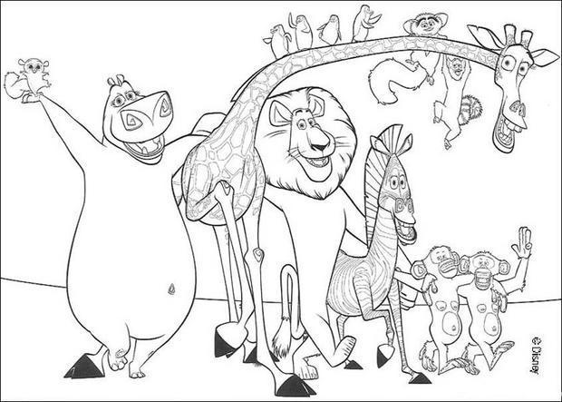 Coloriages tous les animaux du film - Dessin de tous les animaux ...