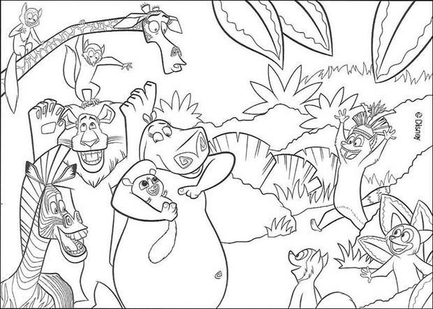 Coloriages les animaux de la jungle - Coloriage animaux de la jungle ...