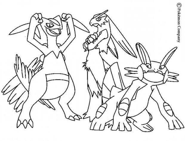 coloriage massko et autres pokemons