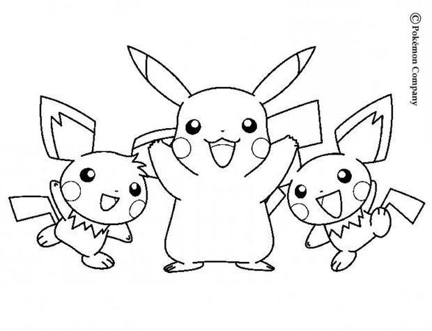 Coloriages pikachu - Coloriage pikachu en ligne ...