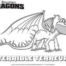 Coloriage : Terreur Terrible, le dragon