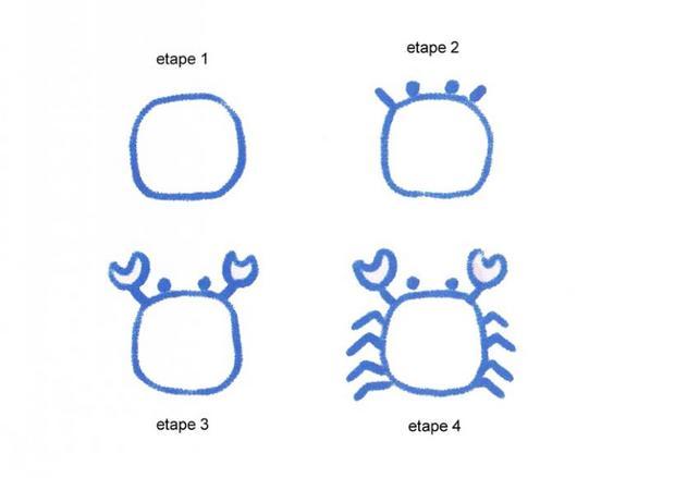 Extrem Comment dessiner dessiner un crabe - fr.hellokids.com QY03