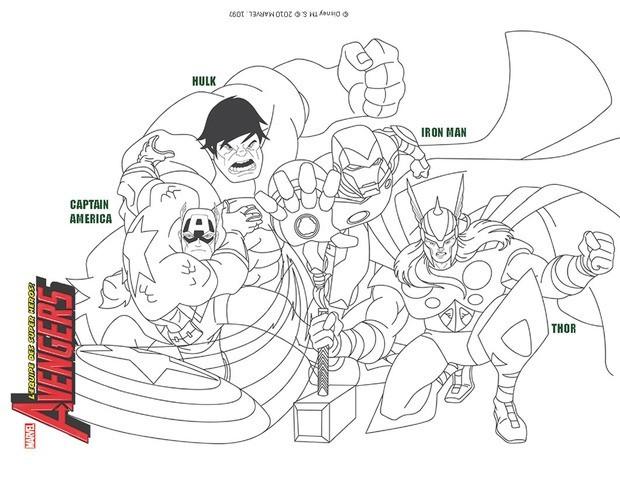 Coloriage : Les Avengers