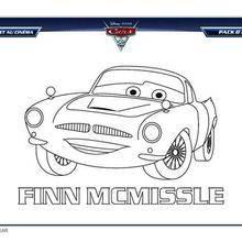 Coloriage à imprimer CARS 2 FINN MCMISSLE