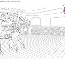 Coloriage Barbie : Ballet à colorier