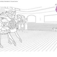 Coloriage Barbie : Ballet à colorier