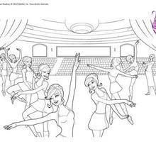 Coloriages figures de danse classique colorier - Coloriage barbie danseuse ...