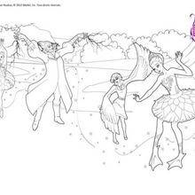 Coloriage Barbie : Ballet Barbie à colorier