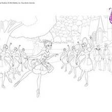 Coloriage Barbie : Ballet de Barbie à colorier gratuitement