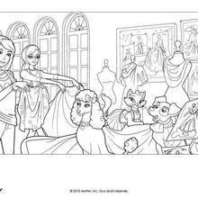 Coloriage Barbie : Barbie, Alice et ses amis animaux à colorier