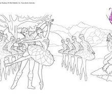 Coloriage Barbie : Barbie ballet à colorier