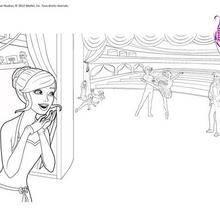 Coloriage Barbie : Barbie danseuse à imprimer gratuitement
