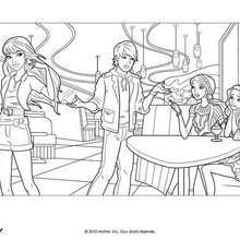 Coloriage Barbie : barbie, Ken et ses amies à colorier
