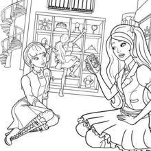 Coloriage Barbie : Blair et Isla à colorier