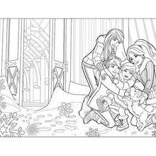Coloriage Barbie : Coloriage de Barbie en hiver