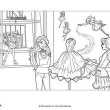 Coloriage Barbie : Coloriage de Barbie et de Alice