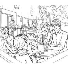 Coloriage Barbie : Coloriage de Barbie, Ken et ses amies