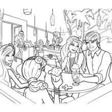 Coloriage de Barbie, Ken et ses amies