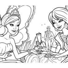 Coloriage Barbie : Coloriage de Crystal et la Princesse Graciella