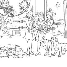 Coloriage Barbie : Coloriage de Hadley, Isla et Blair