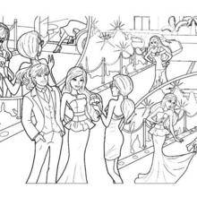Coloriage Barbie : Coloriage de Ken et la Princesse Graciella