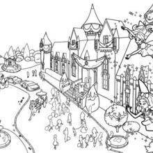 Coloriage de l'école des Princesses
