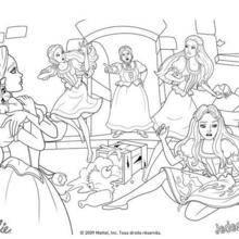 Coloriage Barbie : Coloriage de la colère de la gouvernante