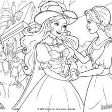 Coloriage Barbie : Coloriage des au-revoirs