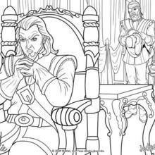 Coloriage Barbie : Coloriage des comploteurs contre le Prince