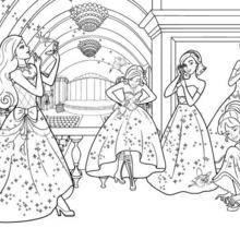 Coloriage Barbie : Coloriage des princesses et des fées
