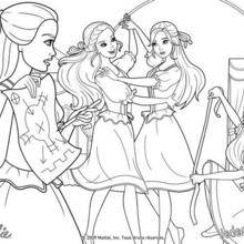 Coloriage Barbie : Coloriage du plan d'attaque