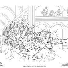 Coloriage Barbie : Coloriage du prince sauvé de justesse