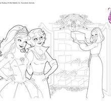 Coloriage Barbie : Coloriage gratuit Kristyn et Hailey