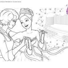 Coloriage Barbie : Coloriage Kristyn et Hailey
