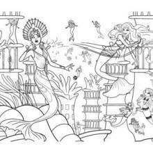 Coloriage Barbie : Eris en action