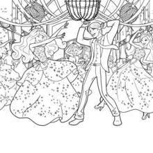 Coloriage Barbie : La fête à l'école des Princesses à colorier
